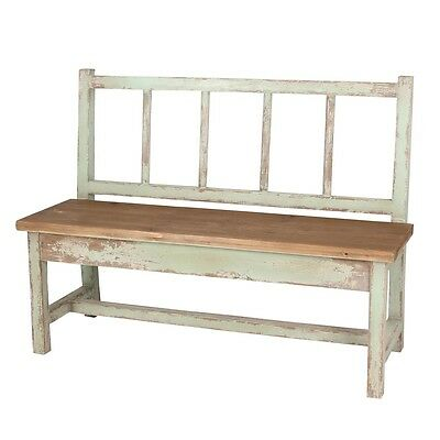 Naturalist Shabby Chic Outdoor Distressed Wood Garden Bench,50''L.