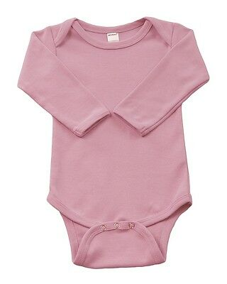 Infant-Baby-Cotton-LS-Onsies-Bodysuit-Blanks-Pink-6-12 months