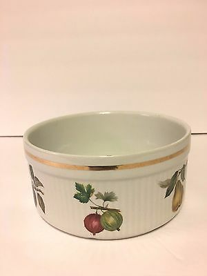 """Staffordshire Salem China Fruits Souffle Dish Made in England 6 and 1/2"""" by 3"""""""