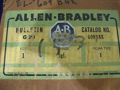 Allen Bradley Ab 609Baw 609-Baw 3 Phase Manual Starter Switch