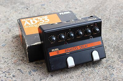 1980's Pearl AD-33 Analog Delay MIJ Japan Vintage Effects Pedal