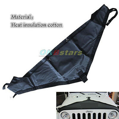 T - Style Hood Cover Front End Bra Protector Kit for 2007-2015 Jeep Wrangler ^KK