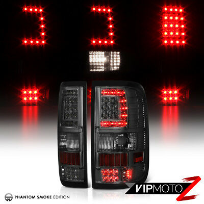 {Plug&Play} 2004-2008 Ford F150 Harley Davidson LED Tail Lights Lamps Smoke Pair