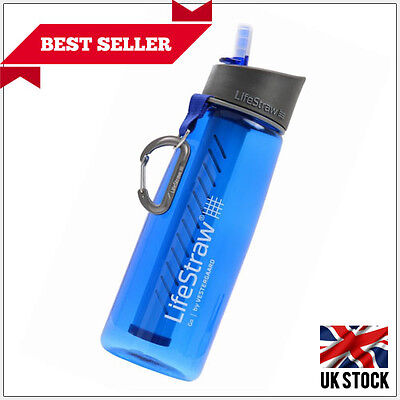 LifeStraw Go Drinking Bottle with Water Filter Hiking Backpacking Camping Travel