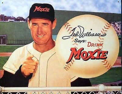 "Ted Williams Moxie Soda Sign  8.5""x11"" Wall Poster  Decor Mancave #2"