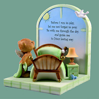 Angel Bear Bookends - with Morning and Night Prayers, New