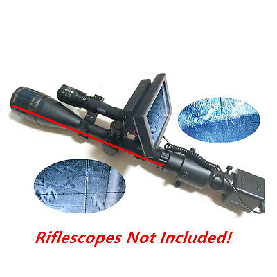 Day Night Use Rifle Scopes DIY Night Vision with LCD Screen and Laser Flashlight