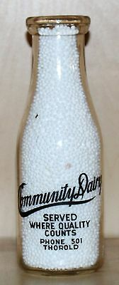 Community Dairy - Pint - Milk Bottle - Thorold Ontario