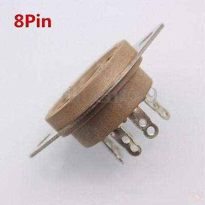 8Pin Chassis Mount Vacuum Tube Sockets KT88 6L6 EL34 Belton replacement Fix Ring