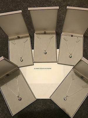 "Genuine 925 Solid Sterling Silver Necklace with "" I LOVE YOU OPEN HEART CHARM"""
