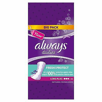 Always Dailies 44 Pantyliners Fresh And Protect Long Plus