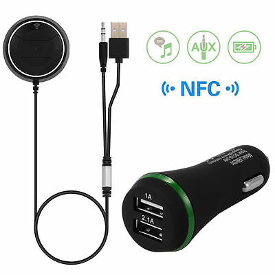 Bluetooth 4.0 Car Audio Music Receiver Speaker Wireless 3.5mm USB Adapter MA360