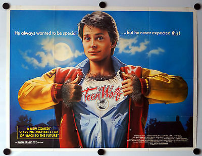 Teen Wolf (1985) Original UK Movie Quad Poster Michael J Fox