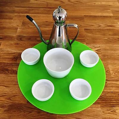 Round Serving Mat - Lime Green - Gloss Finish