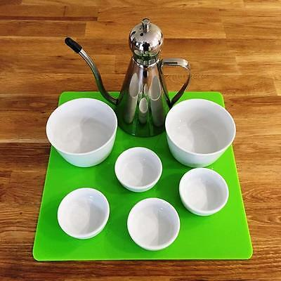 Square Serving Mat - Lime Green - Gloss Finish