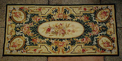 Vintage Aubusson Tapestry Rug Wall Hanging Completed