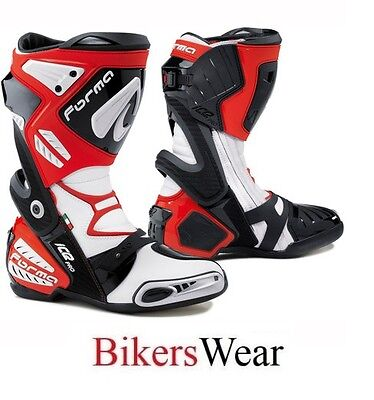 Forma Ice Pro Motorcycle/Motorbike Racing Boots-Red