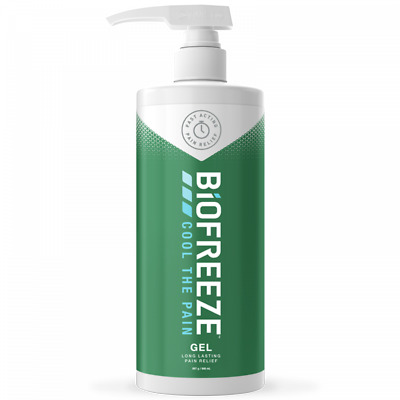 Biofreeze Pain Relieving Gel | Natural Long Lasting Cryotherapy | Dispenser Pump