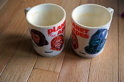 Lot of 2 Planet Of The Apes Plastic Cup Deka 1967 Vintage
