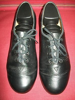 Bloch Black  Leather Tap Shoes Ladies Size 8.5 Technotap #3H Lace Up Excellent