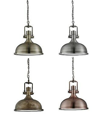 Searchlight Industrial Vintage Metal Ceiling Pendant Light With Glass Diffuser