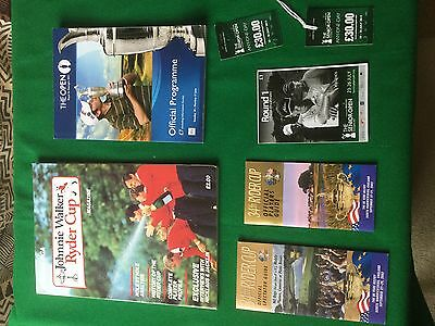 Ryder cup and British open golf programmes