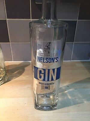 Rare Collectable Empty Nelsons Gin Navy Strength No.7 Bottle -Upcycle Craft