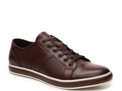 $138.00 Kenneth Cole Men Brand-Age Sneaker, Brown Leather, Size 11