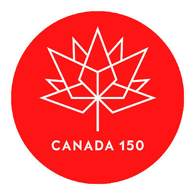 "Canada 150 Anniversary Sticker - 2"" Round Vinyl Decal"