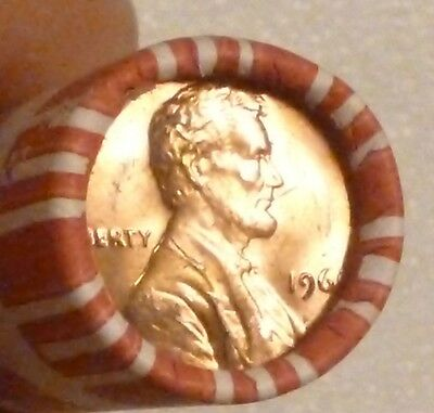 1969P Lincoln Memorial Cent Uncirculated Original Penny Sealed Rolls