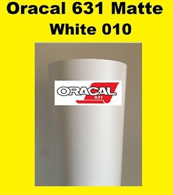 "Oracal 631 Matte White 010 Sign Vinyl Indoor Wall Cutter Stickers 12""x 10 ft"