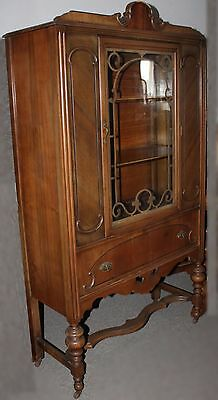 Vintage Depression Era Mahogany China Cabinet Hutch from Statesville Furniture