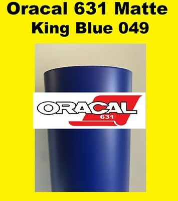 "King Blue Matte Oracal 631 Exhibition Cal Vinyl Roll 12/"" X 10ft"