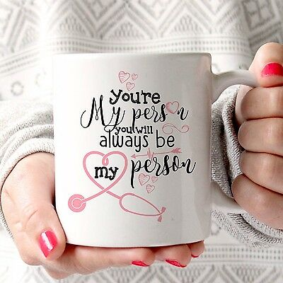 Tazza Mug Grey's Anatomy Idea Regalo you're my person