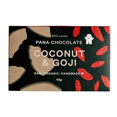 Pana Chocolate Coconut & Goji (45g) | BRAND NEW | OFFICIAL STOCKIST