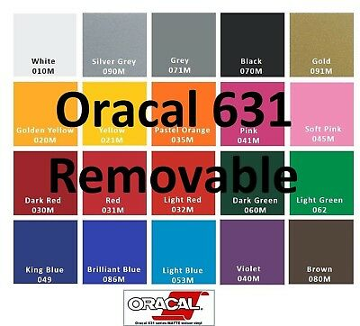 "Oracal 631 4 Rolls 12""x 5 Feet  Adhesive Vinyl (Craft hobby/sign maker/cutter)"