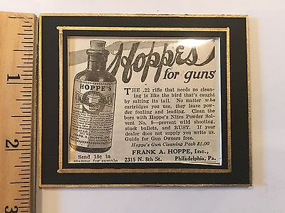 Vintage Hunting Ad, Outdoor Life (June 1927) Hoppe's Solvent