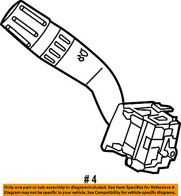 Ford Oem 02 04 Escape Multifunction Switch Lever Multi Function