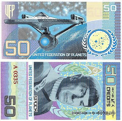 *RARE* STAR TREK - 50TH ANNIVERSARY Collectors FANTASY ART Banknote/Bill