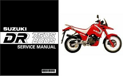 1988-1997 Suzuki DR 750 S / DR 800 S ( DR Big ) Service Manual on a CD