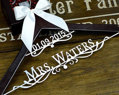 Personalized Wedding Hanger Bridal Hanger, Bride Name Hanger, Dress Hanger EL008
