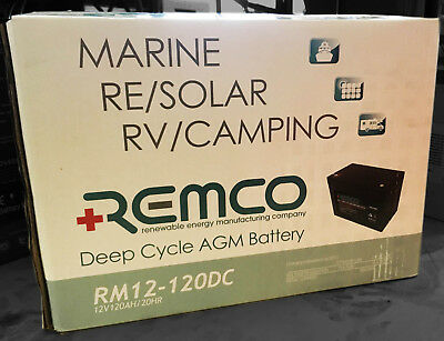 RM12-120DC : Remco 12V 120Ah AGM Deep Cycle Battery - 12Month Warranty