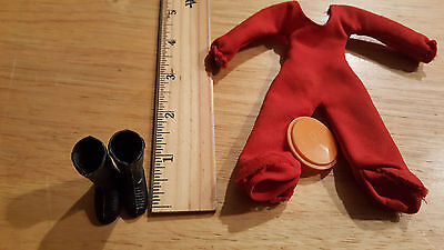 Vintage Breyer Doll Unger Toys Horse Rider Accessories Boots, Clothes Red Jumper