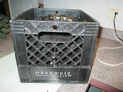 Oberweis Dairy Milk Crate With Two Glass Bottels