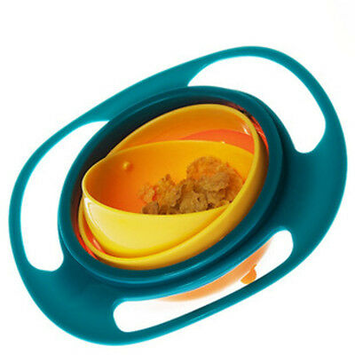 Baby Non Spill Toddler Gyro Feed Bowl 360 Rotating Avoid Food Spilling 1pc