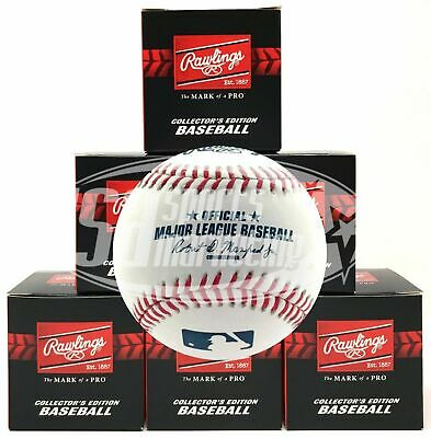 (6) Rawlings Official Major League Game Baseball Manfred ROMLB - 1/2 Dozen