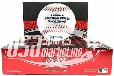 (12) Rawlings Official Major League Game Baseball Manfred ROMLB Boxed - Dozen