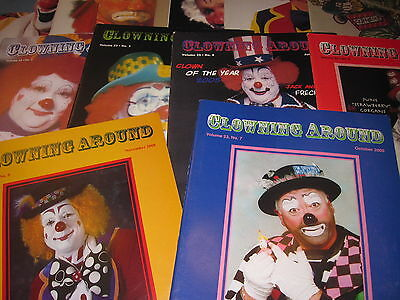 lot of 12 World Clown Association -Clowning Around magazines from 2003-2005
