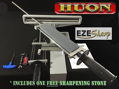 EZESHARP KNIFE/BLADE SHARPENER + FREE stone Butcher/Hunter/Chef/Fisherman