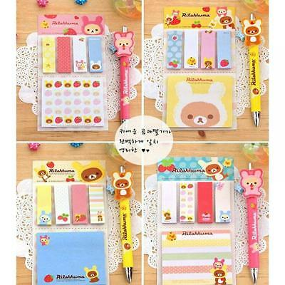 Girl Paper Removable Flags Adhesive Memo Sticky Notes Bear